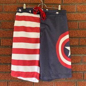 Marvel Captain America Swim Trunks